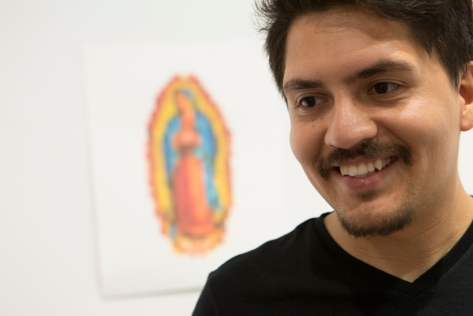 Artist Edgar Reyes and his take on Our Lady of Guadalupe.